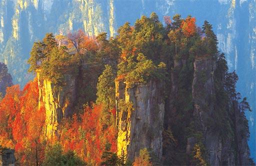 0256-tourism-Zhangjiajie-China-Sandstone wall