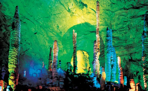 0259-tourism-Zhangjiajie-China-Stalagmite