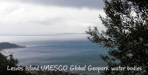 Lesvos island UNESCO Global Geopark water bodies